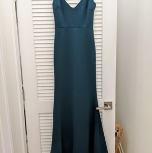 Lulu's Infinite Glory Forest Green Maxi Dress